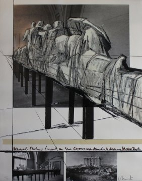 "Christo ""wrapped Statues, The Glyptothek, Munich"""