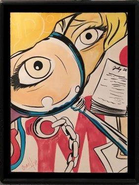 Crash (john Matos) Original Watercolor