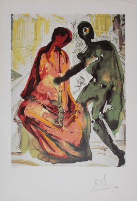 "Salvador Dali ""les Amoureux"""