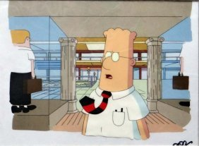 """""""dilbert"""" Hand Painted Animation Cel"""