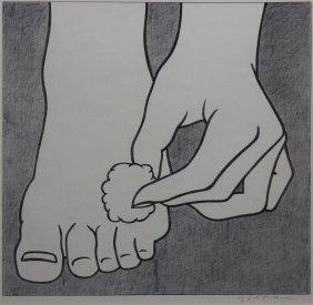 """Roy Lichtenstein """"foot Medication"""""""