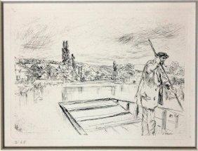 """James Abbott Mcneill Whistler """"the Punt"""""""