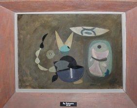 """Roy Lichtenstein """"alice In Wonderland"""" Original Oil"""