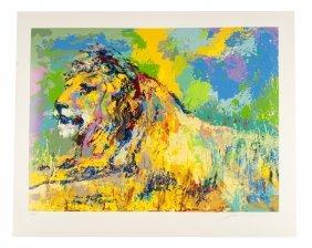 "Leroy Neiman ""resting Lion"""