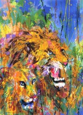 "Leroy Neiman ""lions"""