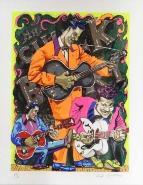 """Red Grooms """"chuck Berry"""""""
