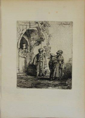 """Rembrandt Van Rijn """"jacob And Laban"""""""