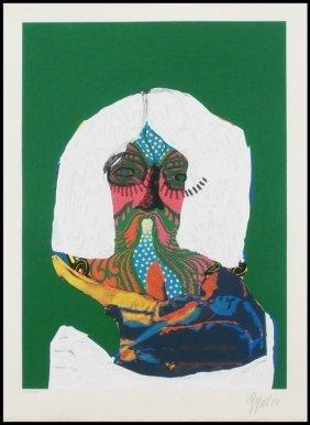 """Karel Appel"""" Hippie Portrait"""""""