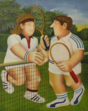 "Beryl Cook ""tennis"""