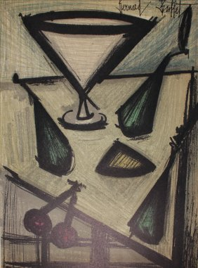 "Bernard Buffet ""cocktail Glass"""