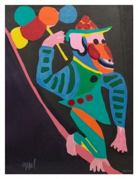 """Karel Appel """"monkey (from Circus)"""""""