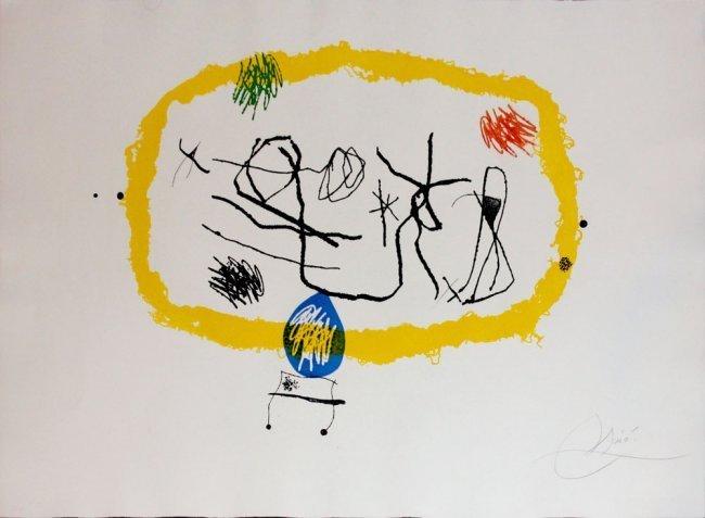 """Joan Miro """"Personnages Solar"""" aquatint"""
