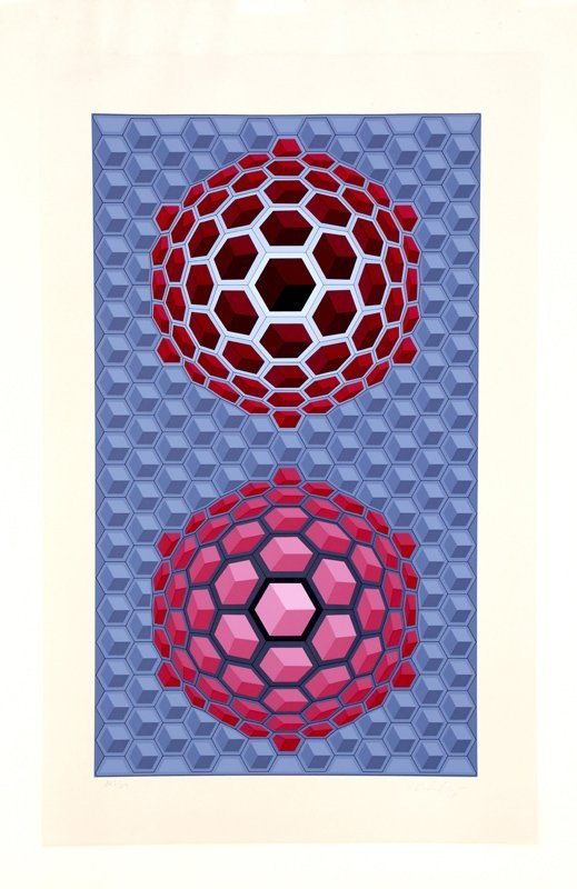 """Victor Vasarely """"Hat Meb"""""""