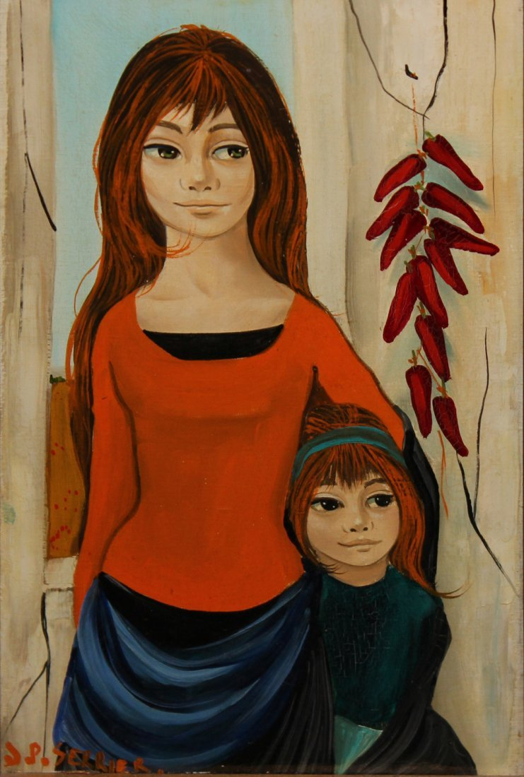 """Jean Pierre Serrier """"Mother and Daughter"""" - 2"""