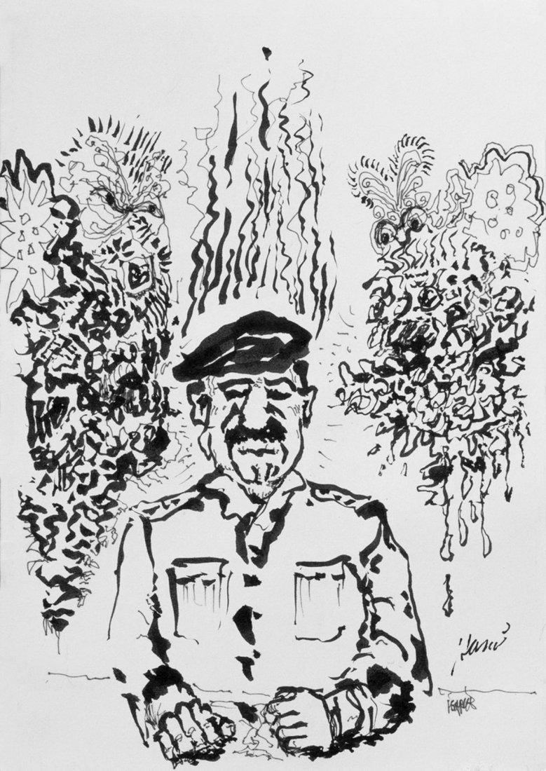 "Jerry Garcia, ""Sadaam"" Original Lithograph on Paper"