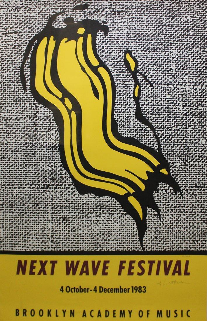 """Roy Lichtenstein """"BAM Next Wave Festival Poster"""""""