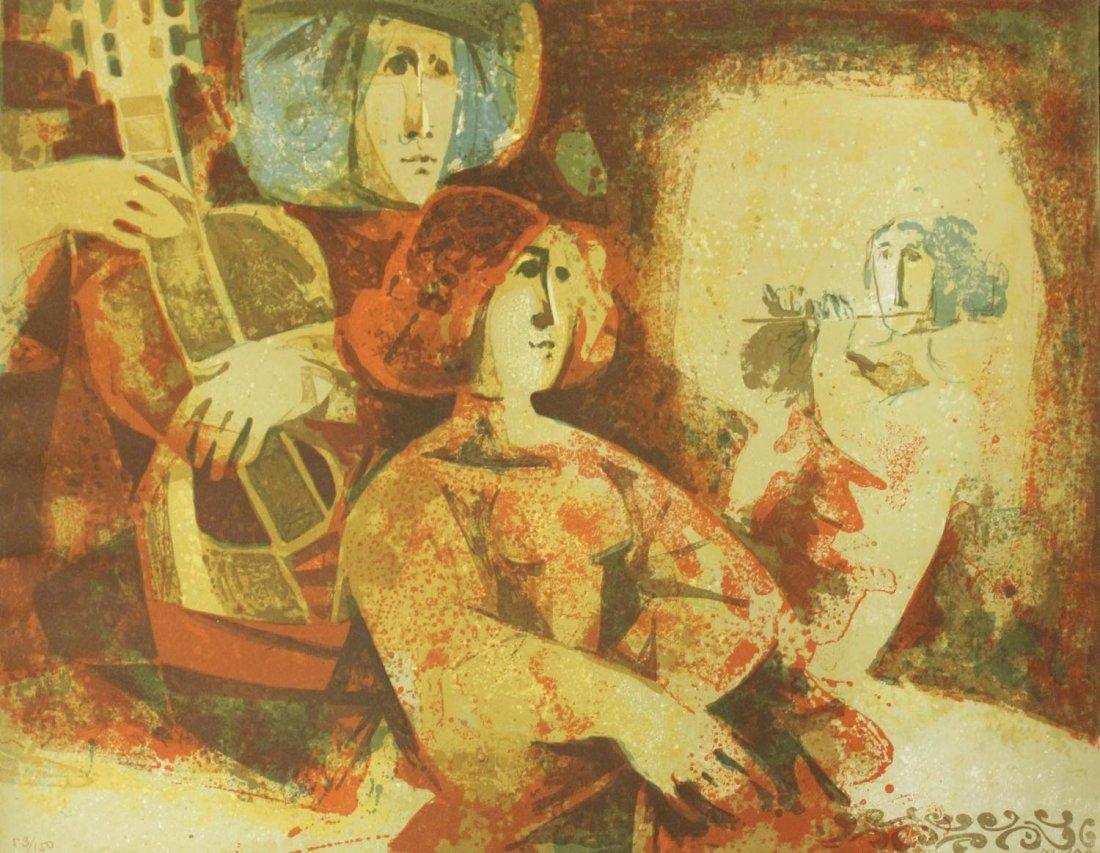 """Sunol Alvar """"Untitled (Guitarist)"""""""