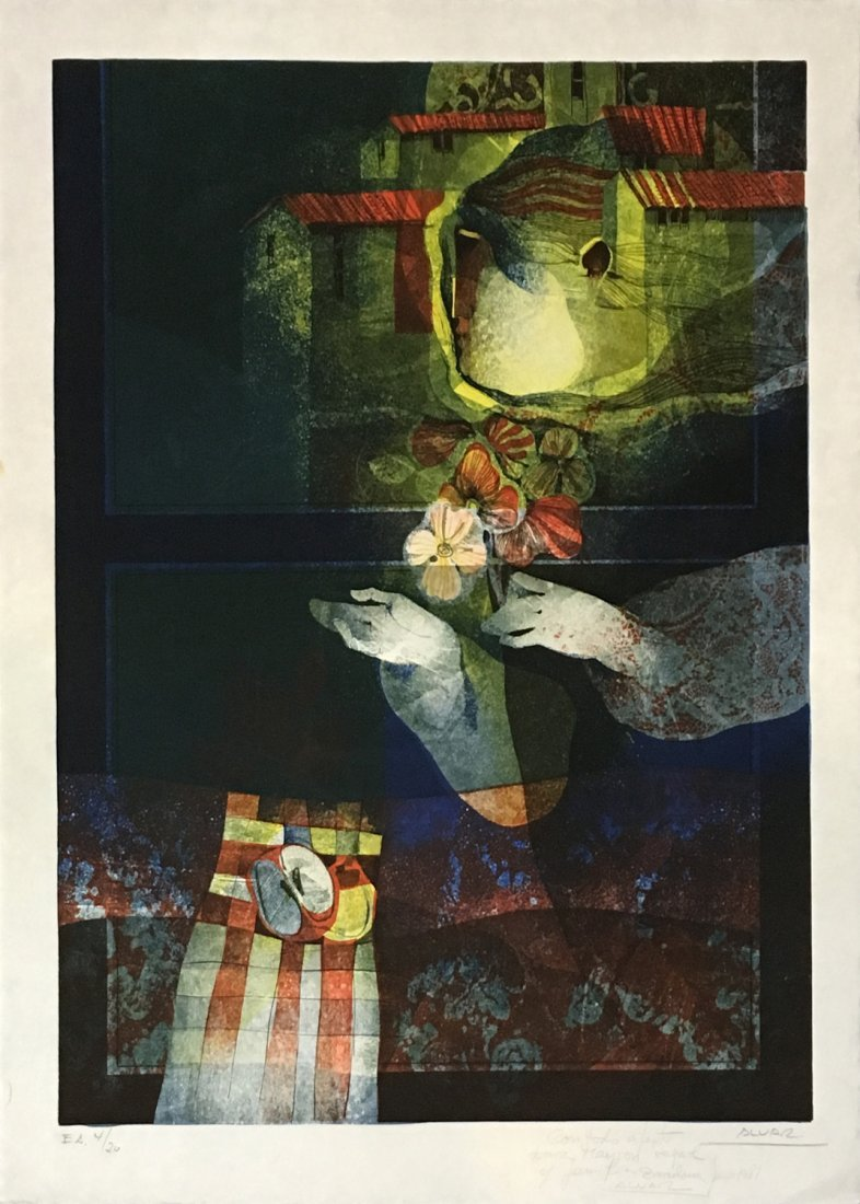 Sunol Alvar original lithograph
