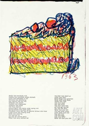 "Claes Oldenburg ""Slice of Cake"""