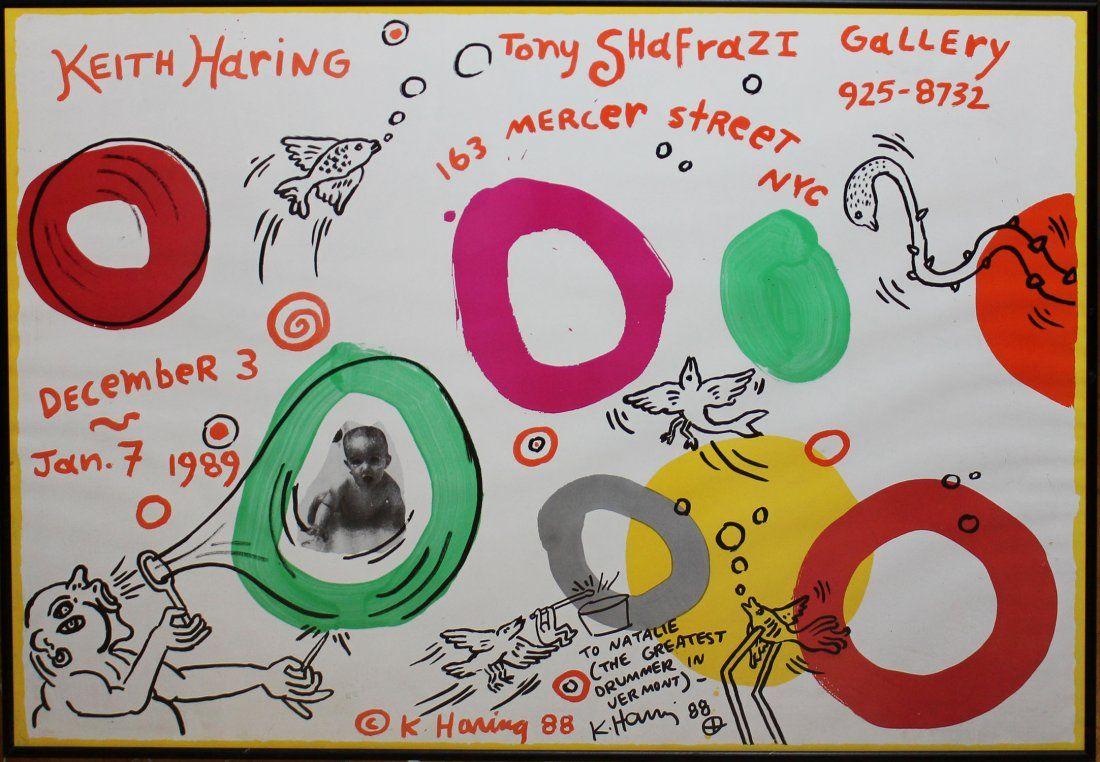 """Keith Haring """"Keith Haring at Tony Shafrazi Gallery"""""""