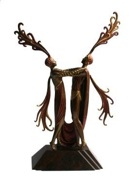 "Erte ""Kiss of Fire"" Bronze Sculpture"