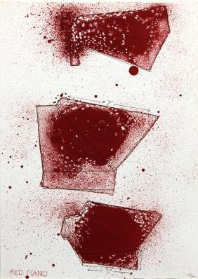 Red Piano by Jim Dine