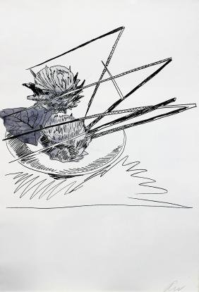 Andy Warhol - Untitled from Flowers (Black & White)