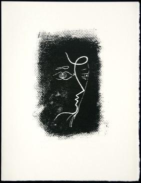 """Georges Braque - """"Profil De Femme (M.25)"""" from"""