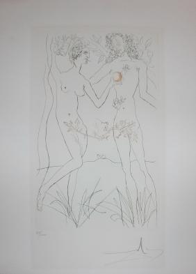 "Salvador Dali ""Adam and Eve"""
