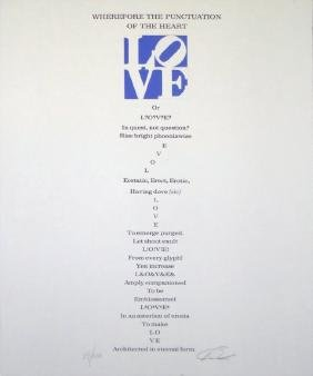 """Robert Indiana """"Wherefor the Punctuation of Love"""""""