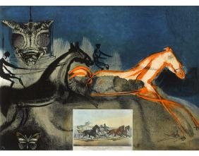 "Salvador Dali, from ""Currier & Ives as Interpreted by"