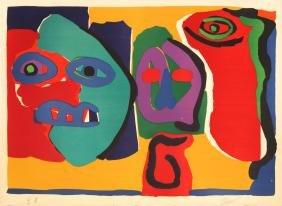 Karel Appel - Three Figures