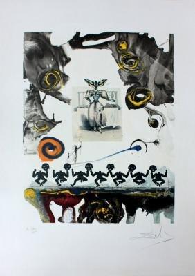 """Salvador Dali, """"Surrealist Gastronomy"""" Original Litho."""