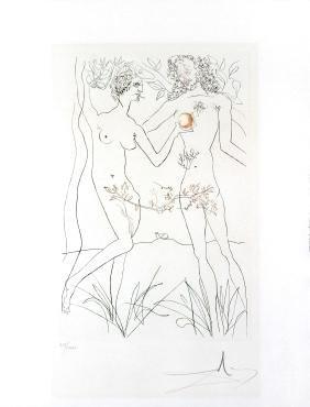 Adam and Eve by Salvador Dali