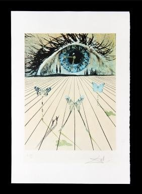 The Eye of Surrealist Time by Salvador Dali