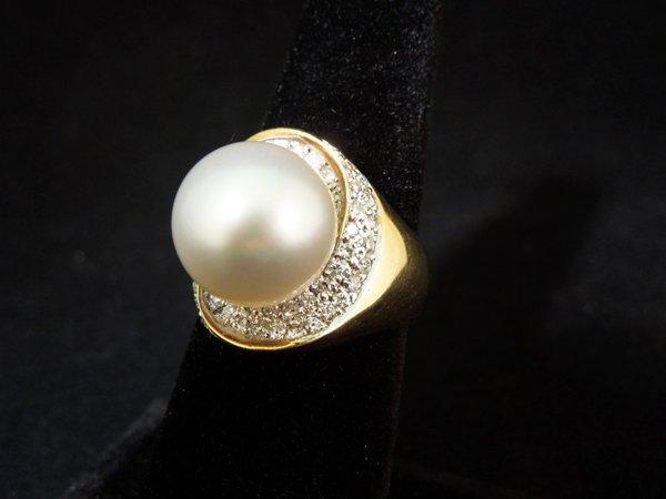 7: 18kyg Pearl Ring