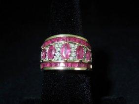 11: Ruby and Diamond 14kyg Ring