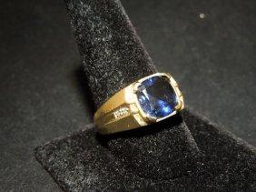 16: 10kyg Sapphire Men's Ring