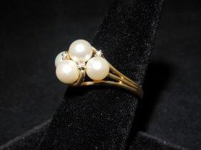 18: 14kyg Pearl Ring
