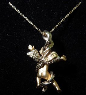 14kyg Angel Necklace