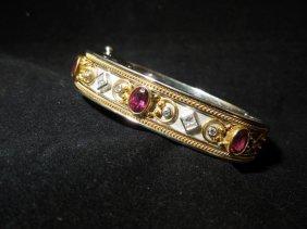 161: Breathtaking Tourmaline and Diamond Bracelet