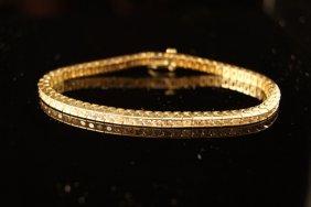 2: 14k Diamond Tennis Bracelet