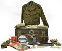 WWII US Army Uniform Travel Chest Memorabilia