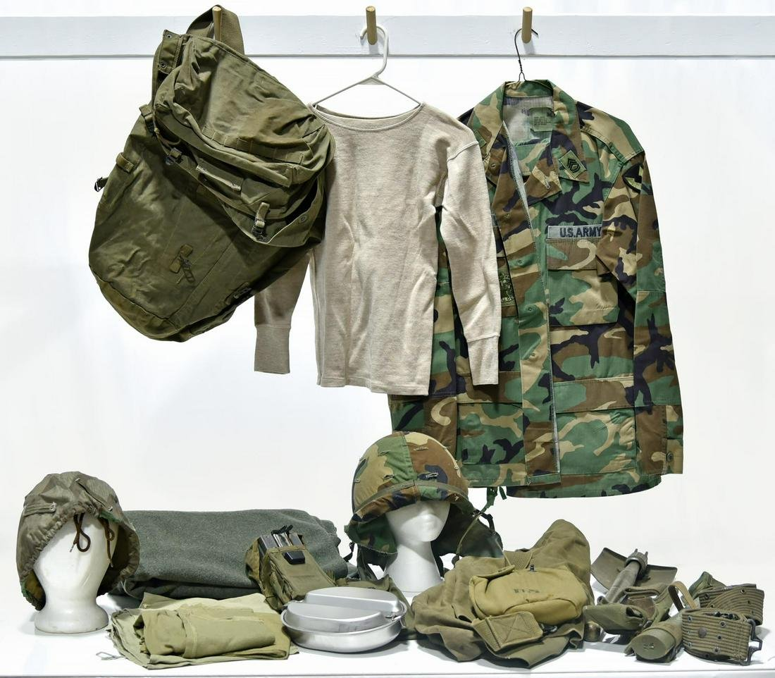 Collection Lot of Combat Uniforms - Cold War U.S. Army,