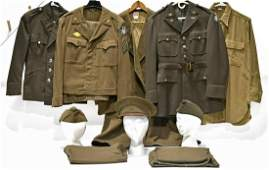 WWII U.S. Army Service Jackets with Service Ribbons and