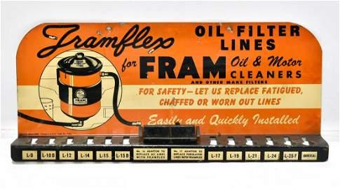 1949 Framless for Fram Oil Filter Lines Display Sign