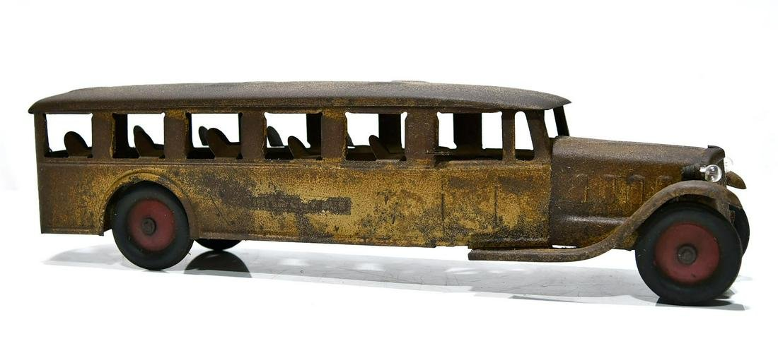 Large Cor Cor Pressed Steel Toy Bus