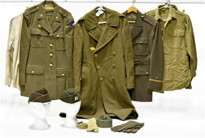 Collection Lot of WWII U.S. Army Uniforms and