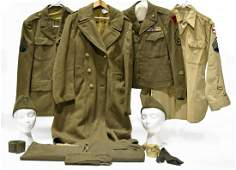 Collection Lot of WWII U.S. Army Service Uniforms and