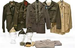 Lot of WWII US Army Air Force Field Jackets Shirts